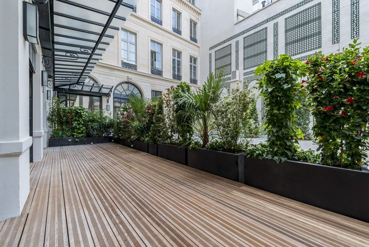 Cour Int Rieure Lpa Architectes Cour Restauration Architecture Terrasse Wood Bois Pierre