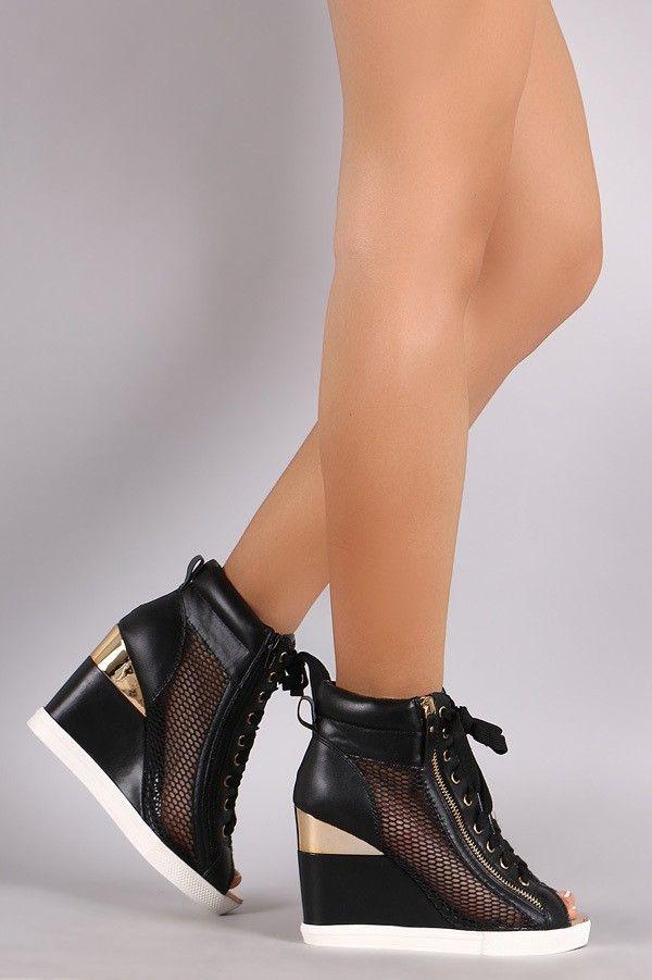 Not Versace Wedge Sneaker