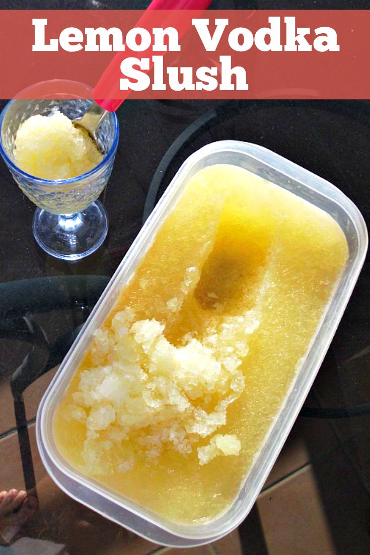 Lemon Vodka Slush Recipe - this amazing summer cocktail is easy to make and can sit in your freezer for months, so it's always there to cool down with on a summer's evening or liven up a pool party. I make this every year - it's that awesome!!