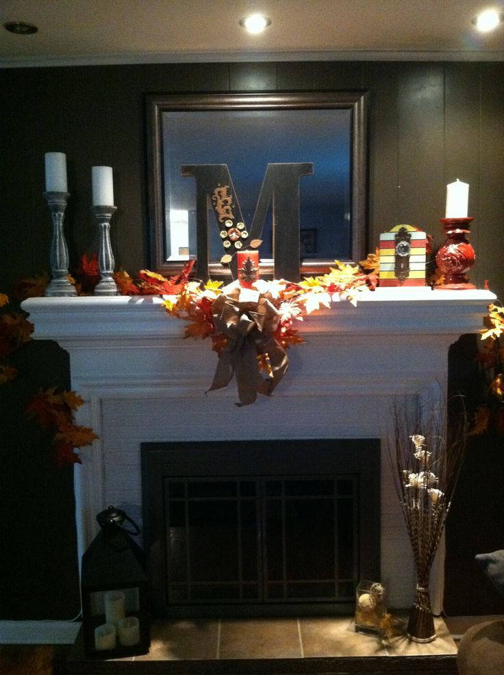Fall decor from Hobby Lobby  decor  Pinterest  Lobbies Decorating and Mantle