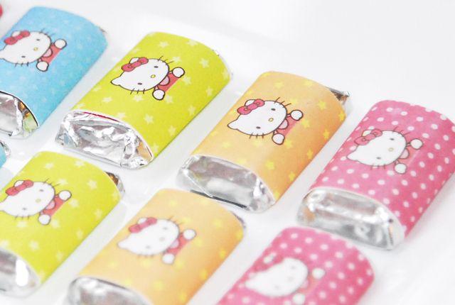 Hello Kitty mini candy bars #hellokitty #chocolate