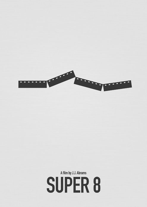 super 8 | jj abramsMinimal Posters, Minimalist Movie, Alternative Posters, Film Posters, Alternative Movie, Aaron Koh, Favorite Movie, Movie Art, Minimal Movie Posters