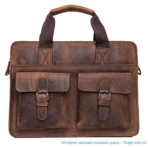 Кожаный деловой портфель, сумка, мессенджер Кожаный деловой портфель, сумка, мессенджер. Материал: натуральная воловья винтажная кожа, сырой. вычинки Размер сумки: 37 x 28 x 8 cm. Размер ремня: 95cm-151cm. Цвет: темно коричневый.