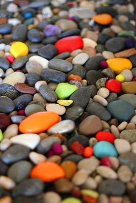 totally digging this idea!! Build a garden that rocks: Turn plain stones into a whimsical surprise