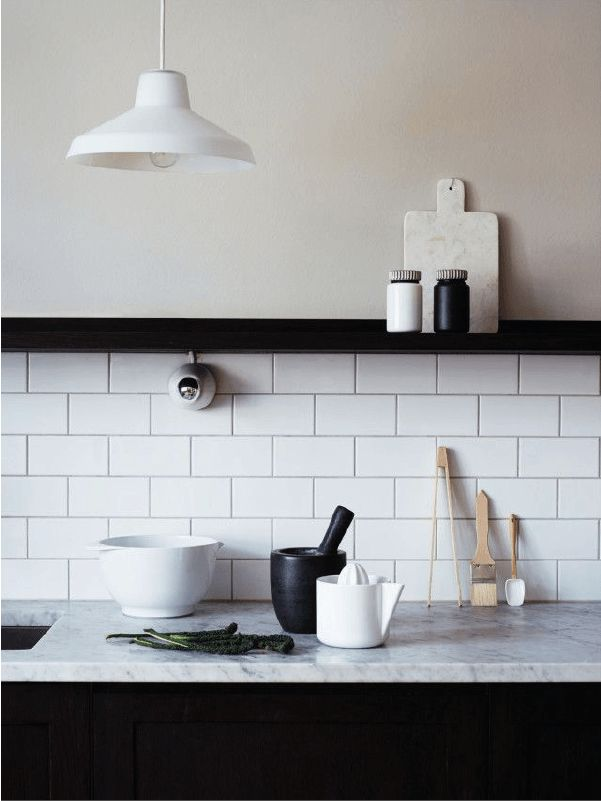 Les Meilleures Idées De La Catégorie Carreaux De Métro En - Carrelage imitation marbre pour idees de deco de cuisine