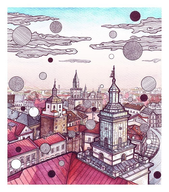 Lublin/Poland watercolor/black pen 21x24cm http://ift.tt/2FnmiFM