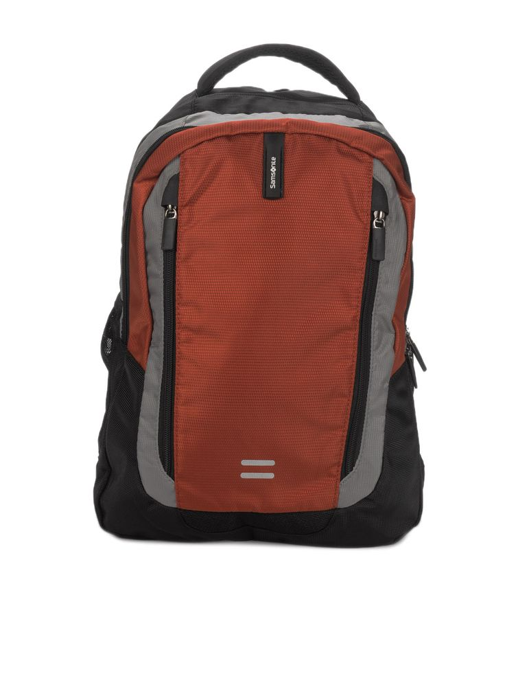 Buy Samsonite Unisex Black & Rust Albi Backpack - 294 - Accessories for Unisex