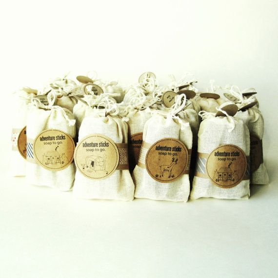 Travel Size Soap Sticks - 25 Packs - Camping Party Favor :: Outdoor Wedding Favors ::  by prunellasoap on Etsy
