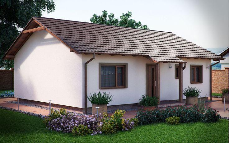 3DVisionDesign - Junior Könnyűszerkezetes családi ház homlokzati látványterve