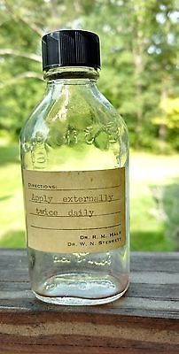 5 Early Vtg Family Doctor RX Medicine Glass Bottles with Original Labels