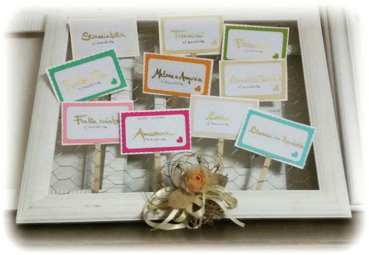 Wedding tag confetti,  confettata
