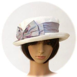 BOATER - 100% hemp summercloth; silk sash - Rosehip Hat Studio