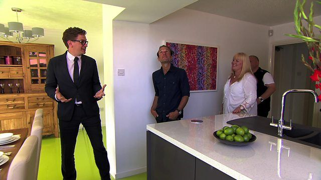 A great floor: lime green painted chipboard, amazing effect, and not expensive, see the clip below: http://www.bbc.co.uk/programmes/p025zlfl Or the whole programme, the floor segment is 44:40 on http://www.bbc.co.uk/iplayer/episode/b04gvdpm/the-100k-house-tricks-of-the-trade-episode-1