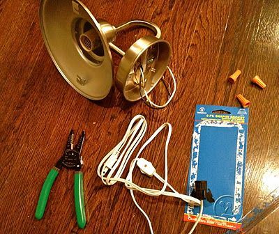 "How to convert a hardwired sconce to a plug-in That's My Letter: ""S"" is for Sconces"