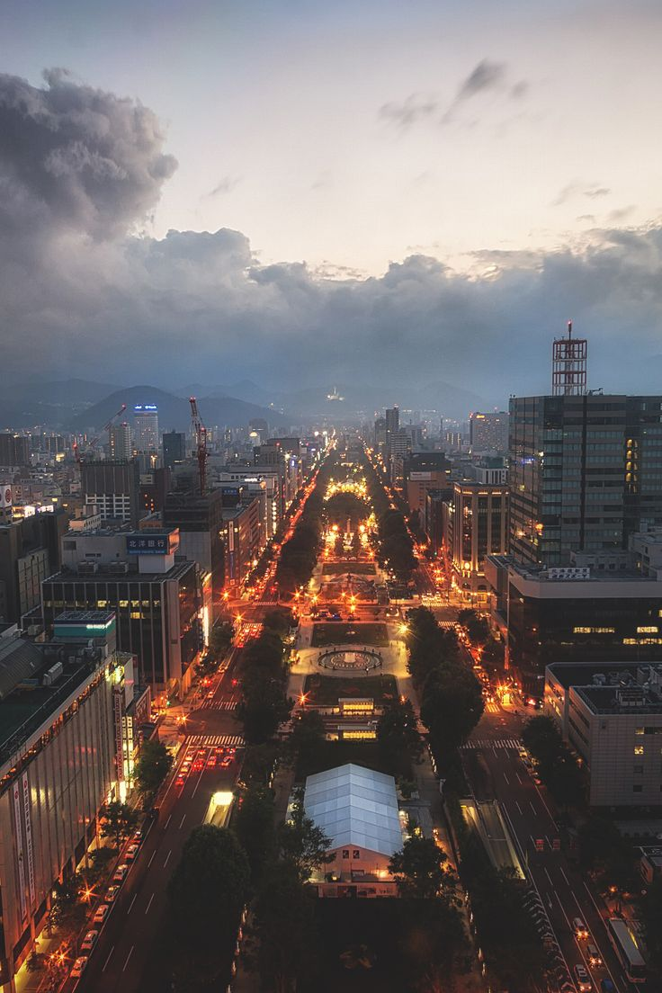 Sunset over Sapporo by Aaron Choi