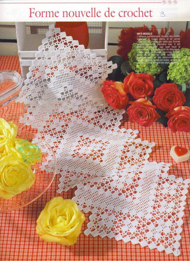 Crochê Gráfico: Trilho de mesa em crochê