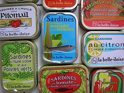 La Belle Iloise sardine boxes. French specialty