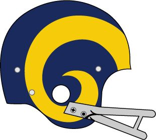 Los Angeles Rams Helmet Logo (1973) - Dark blue helmet 261943c08