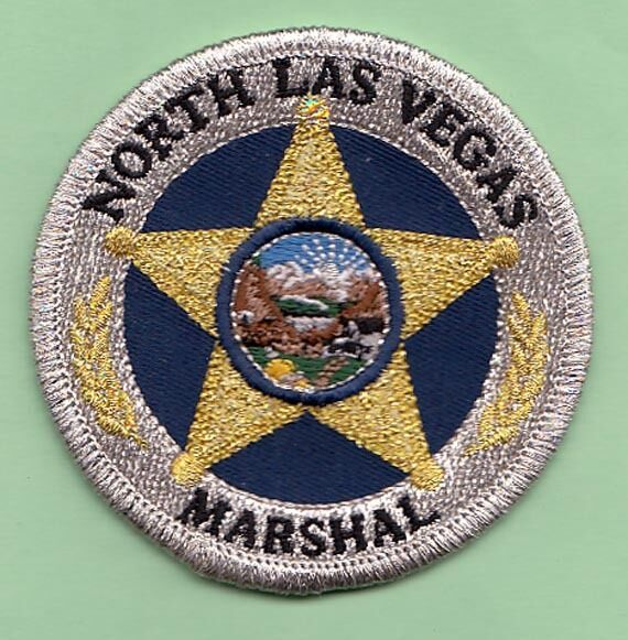 Us State Of Nevada City Of North Las Vegas Marshal Office Cloth Badge Cloth Badges Police Badge Badge