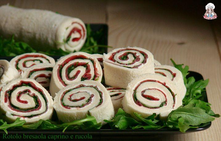 Rotolo+di+bresaola+caprino+e+rucola+ricetta+senza+cottura