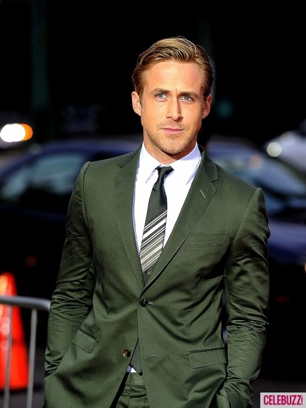 Yum. Is that suit grey, or forest green. Either way, I need one.