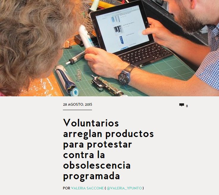 Voluntarios arreglan productos para protestar contra la obsolescencia programada / @yorokobumag | #readytoshare #readytoworktogether #readyforsustainability
