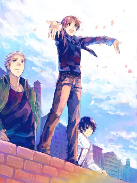 An anime in which the stereotypes of countries are transformed into humans << Yes it's hillarious