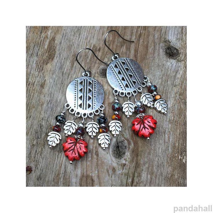 25 unique diy chandelier earrings ideas on pinterest earrings pandahall customer show diy tibetan style chandelier earrings with leaf pendants pandahall customershow mozeypictures Gallery