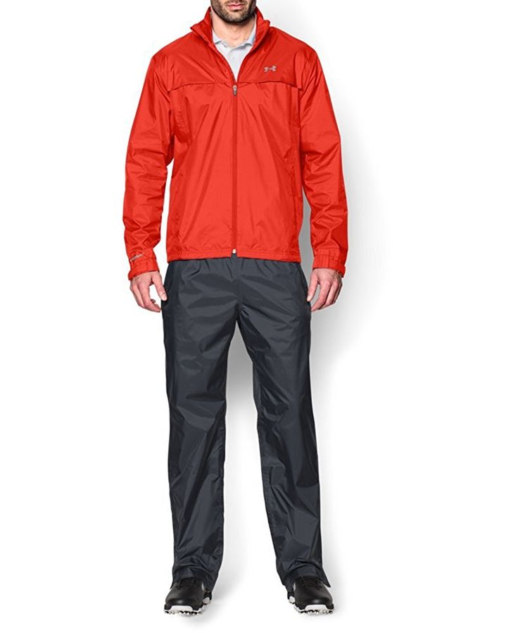 Utilizing UA storm technology these mens golf rain suits by Under Armour will ensure you remain dry and comfortable at all times!
