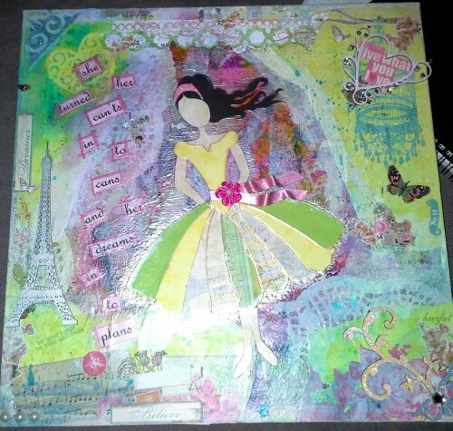 lnspired by Gabrielle Palasso's tutorial. A 21st present for my niece.
