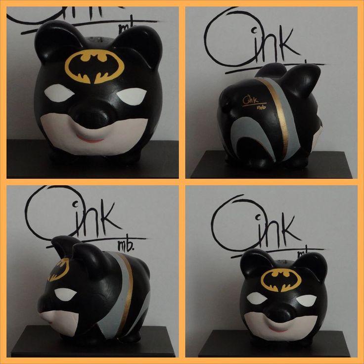 Batman Oink mb alcancias hechas a  mano