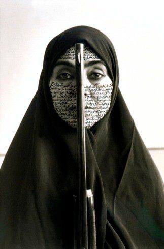 Shirin Neshat: Artist of the Decade. Article. Rebellious Silence, from the Women of Allah series. Shirin Neshat (artist); photo by Cynthia Preston. 1994 C.E. Ink on photograph.