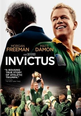 Invictus (2009) In this drama based on real-life events, director Clint Eastwood tells the story of what happened after the end of apartheid when newly elected president Nelson Mandela used the 1995 World Cup rugby matches to unite his people in South Africa. Based on John Carlin's book, the film stars Morgan Freeman as Mandela and Matt Damon (both Oscar nominated) as Francois Pienaar, the captain of the scrappy South African team that makes a run for the championship.
