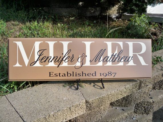 Need the perfect gift? Our last name sign is sure to be the hit of any party or…