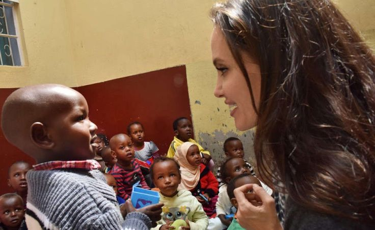 Angelina Jolie Visits Refugee Girls in Kenya During United Nations Humanitarian Trip  Angelina Jolie's resume of humanitarian work once again proves to be one of the most extensive in Hollywood. The actress and director was named an ambassador for the United Nations High Commissioner for Refugees (UNHCR) in 2001 and has since been promoted to special envoy due to her immense activism. On Tuesday World Refugee Day she traveled to the Kenyan capital of Nairobi to visit approximately 20…
