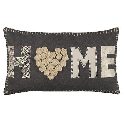 £35 Buy John Lewis Home Cushion, Grey / Cream online at JohnLewis.com - John Lewis