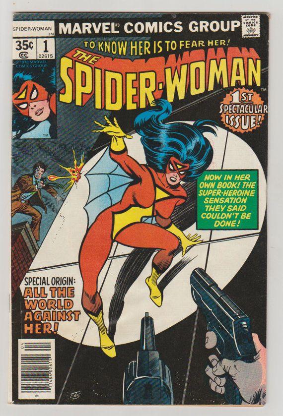 Spider-Woman Vol 1 1 Bronze Age Comic Book. by RubbersuitStudios #spiderwoman #jessicadrew #comicsforsale