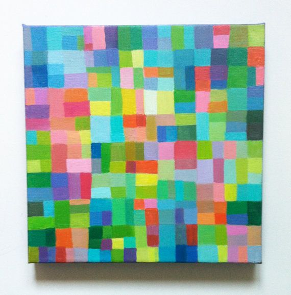 Abstract Painting / ORIGINAL PAINTING/ Geometric by tushtush, $75.00