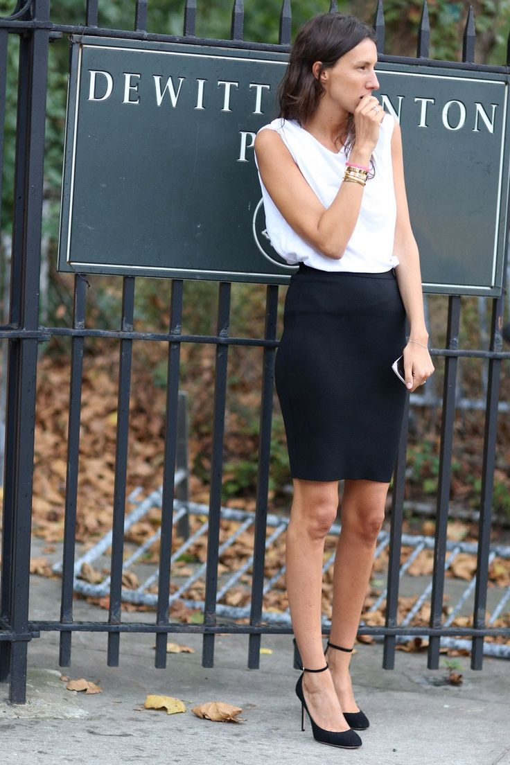 B: Pencilskirt, Work, Fashion Weeks, Offices Looks, Vogue Paris, Black White, Street Styles, Make Lime Saglio, Black Pencil Skirts