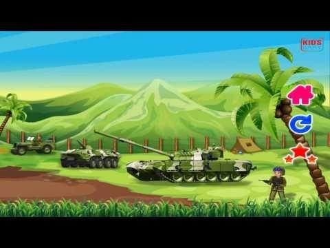 Camion de l'armee dessin animé, l'armée pour les enfants, Voiture dessin...