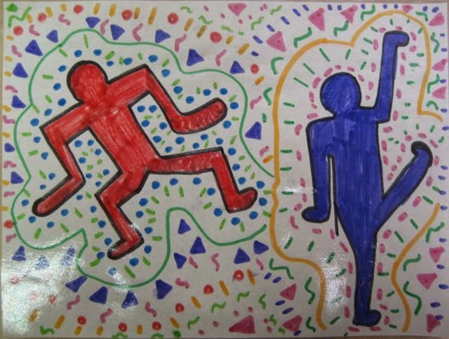 Ms. C's Artroom: Keith Haring // Spring Into Action Art Lesson // special education - elementary school age // medium: drawing // a lesson on movement and art, creating artwork that evoke feelings of movement and music