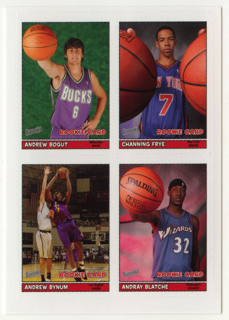 Andrew Bogut / Channing Frye / Andrew Bynum / Andray Blatche # 24 - 2005-06 Topps Baz Basketball 4-on-1 Stickers