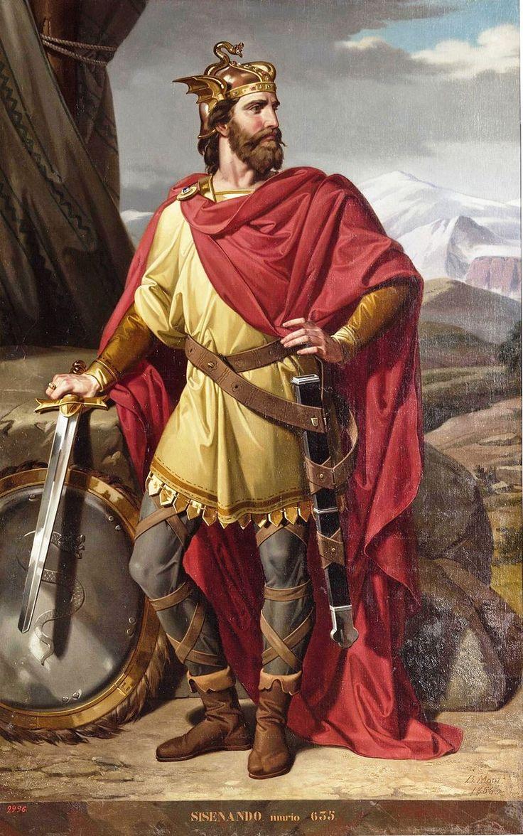 Spain / Battles, Knights.. - El rey visigodo Sisenando († 636), que sucedió en el trono a Suintila y fue sucedido a su vez por el rey Chintila. - Sisenando, rey de los Visigodos (Museo del Prado).