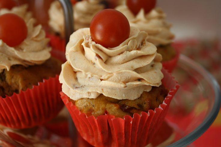 cupcake tomate pesto parmesan