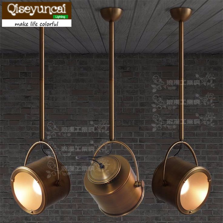 Qiseyuncai Loft industrial style retro industrial wind pandent lights imitation bronze plating process lighting
