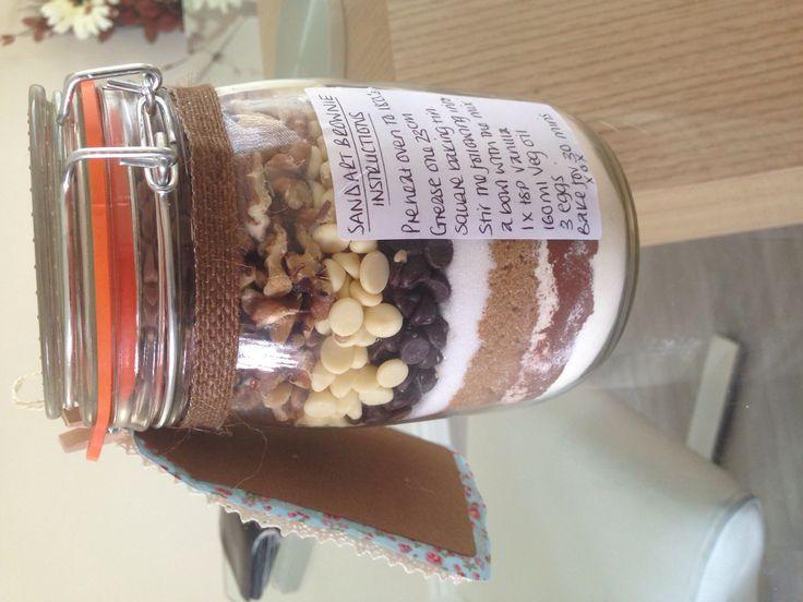 Brownie in a jar