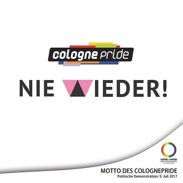 """#DeinCSD   Alles auf Anfang! Der ColognePride ist offiziell zurück und bleibt beim zuerst entschiedenen Motto """"Nie wieder!""""  In wenigen Tagen beginnt in Deutschland die PRIDE-Saison 2017 und wir stellen euch die Mottos eurer CSDs vor. Mit Start der Pride-Season 2017 beginnt dann auch die große Abstimmung auf unserer Webseite: Dein beliebtestes CSD-Motto 2017.  Und bis dahin wollen wir von euch wissen: Wie lautet euer ganz persönliches Motto im Wahljahr 2017? Schreibt eure Vorschläge einfach…"""