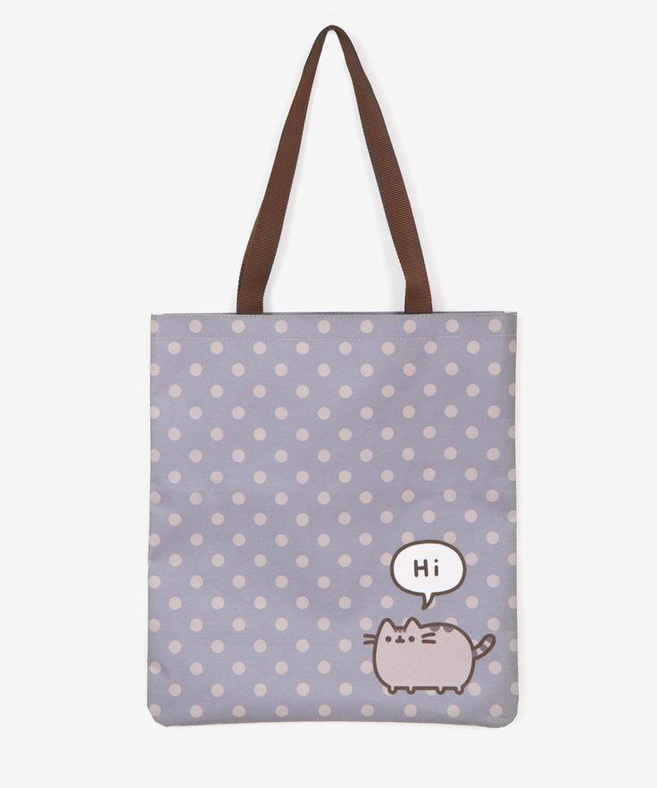 Pusheen Polka Dot tote bag – Hey Chickadee