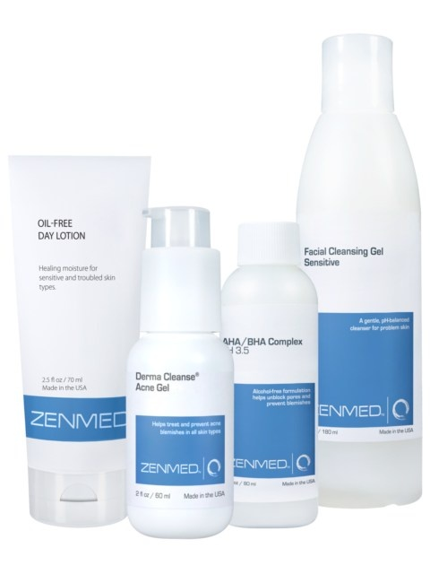 Acne Therapy For Combination Skin: Designed for people with the most common skin type of all, combination. Balances oiliness where needed, moisturizes where required. Helps equalize skin to prevent breakouts from happening. Most useful for people with an oily t-zone, clogged and/or enlarged pores, sensitive skin, and mild Acne. $84.89