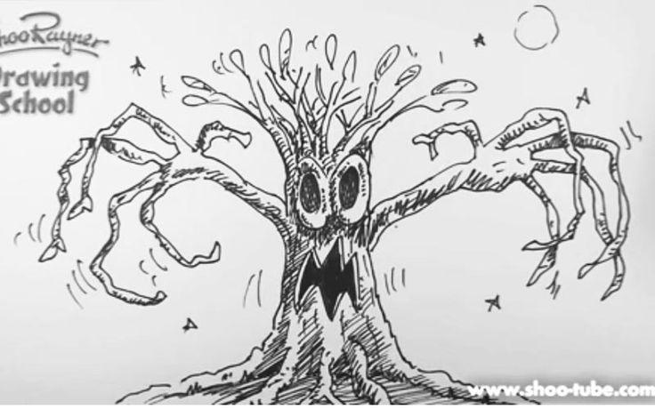 Как нарисовать сказочное злое дерево